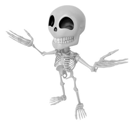 3D Skeleton Mascot has been welcomed with both hands. 3D Skull Character Design Series.