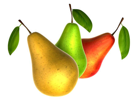 Fresh pears in various colors. Foods and Dishes Series.