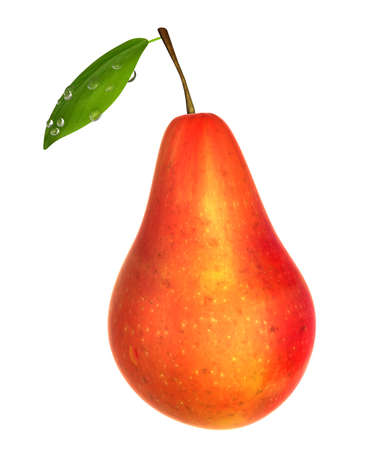 Fresh Red color Pear. Foods and Dishes Series.
