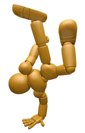marioneta de madera: La mascota 3D de la muñeca de madera es jugar el baile de rotura. La bola de madera 3D articuló la serie del diseño del carácter de la muñeca.
