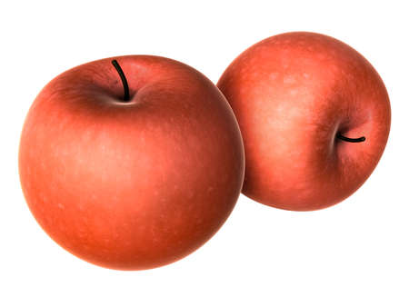 Two Fresh Red apples. Foods and Dishes Series.