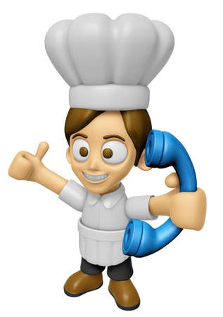 3D Chef Man Mascot just calls me back when you have more time. Work and Job Character Design Series 2.