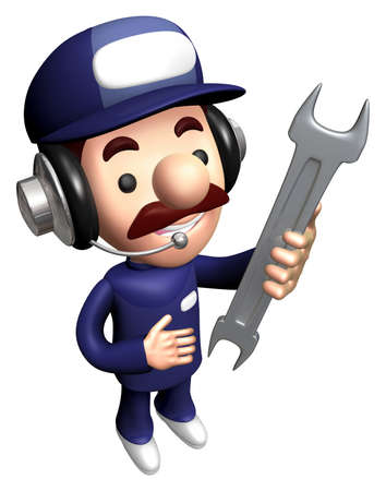 3D Engineer Mascot is holding the Spanner.