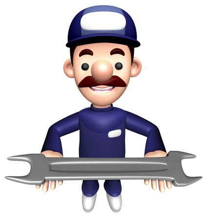 3D Service Mascot está sosteniendo la carpeta. Foto de archivo - 83283238