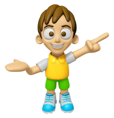 3D Child Mascot has been welcomed with both hands. Work and Job Character Design Series 2. Stock Photo