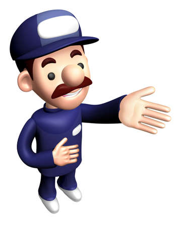 3D Repairman Character is a guide gesture.