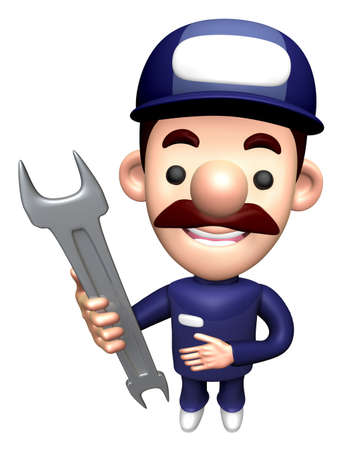 3D Specialist Character is holding a Wrench.