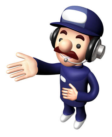 3D Service Mascot is a guide gesture.