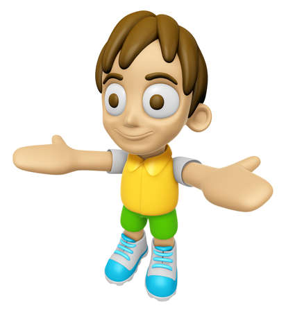 3D Child Mascot has been welcomed with both hands. Work and Job Character Design Series 2. Stok Fotoğraf