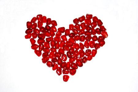 garnet: Garnet heart Stock Photo