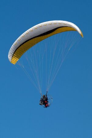 Paraplane on background blue sky Stock Photo - 5754883