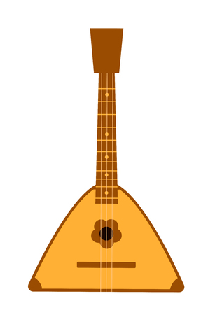Balalaika. Russian folk musical instrument. Vector flat illustration