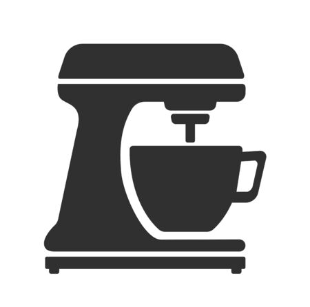 Stationary, electric mixer. Kitchen blender. Simple vector icon, isolated on a white background.