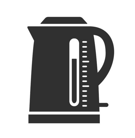 Electric kettle icon. Simple vector illustration isolated on a white background.  イラスト・ベクター素材