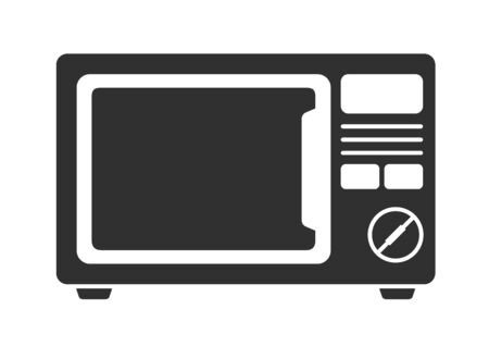 Microwave icon. Kitchen electric stove symbol. Simple vector illustration.