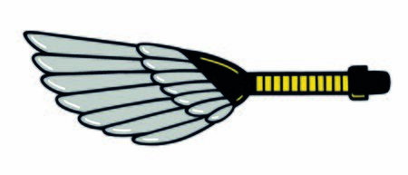Deleter feather sweeper. Manga sketching supply cleaning tool. Vector illustration.