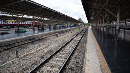 Bangkok Patumwan /Thailand August/8/2020, Railroad in the train station Standard-Bild