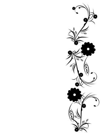 Floral background with white background. Vector Illustration. Vector
