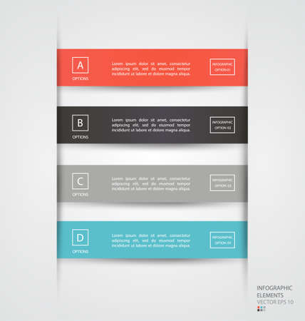 Modern infographic elements. Can be used for workflow layout, diagram, number options, step up options, web template, infographics. Vector illustration. Vector