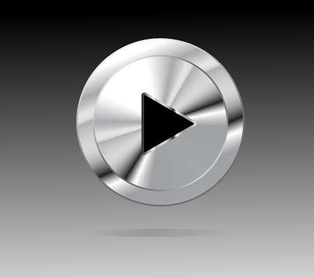 shiny metal: Shiny metal Play button