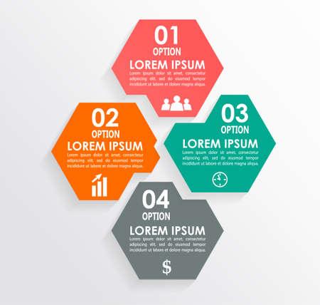 square shape: Infographics square shape elements
