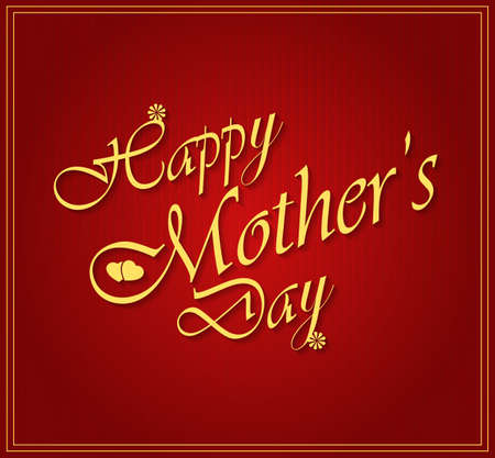 Happy Mothers day gold letters on white paper. Vector illustration. Vector
