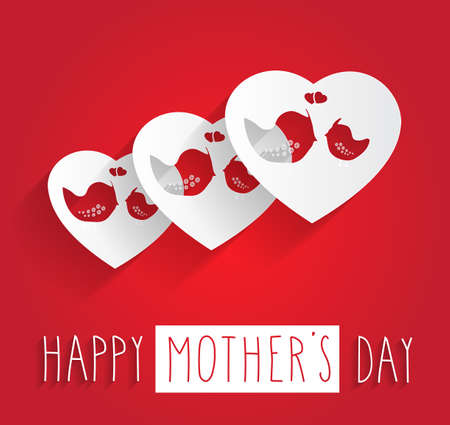 mothers day: Happy Mothers Day poster. Vector illustration.