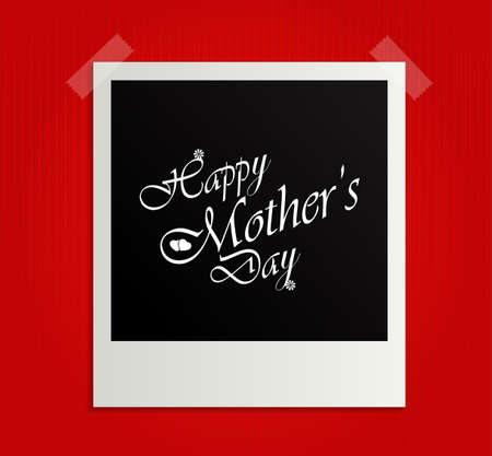 Retro Photo Frame Happy Mothers Day Vector