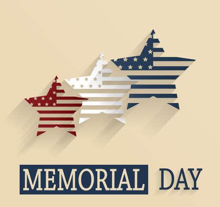 memorial day: Happy Memorial Day poster Illustration