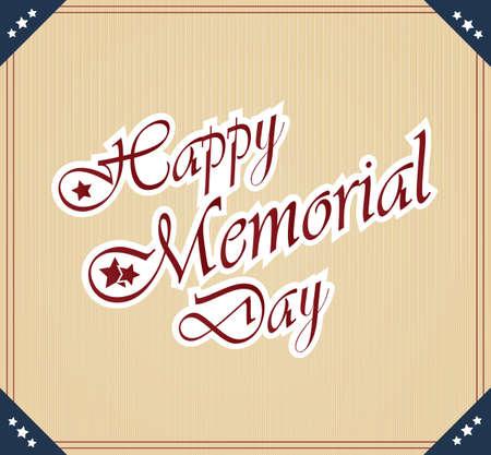 Happy Memorial Day vintage poster Vector
