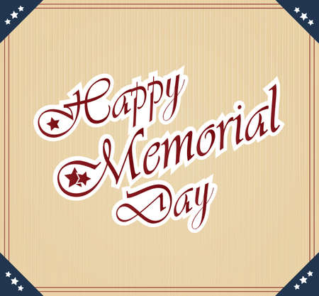Happy Memorial Day vintage poster Vector