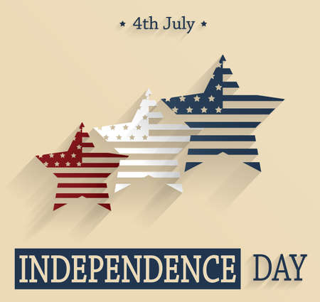 stelle blu: Independence Day. Red white and blue stars. Vector illustration Vettoriali