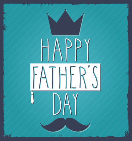 father s day: Fathers Day hand drawn poster. Vector illustration.