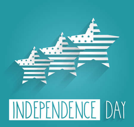 Independence Day. Blue Background. Vector illustration. Vector