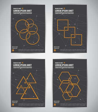 catalog: Minimalistische kleur stijl brochure catalogus voorblad layout template. Geometrisch ontwerp op ster achtergrond. Vector illustratie.