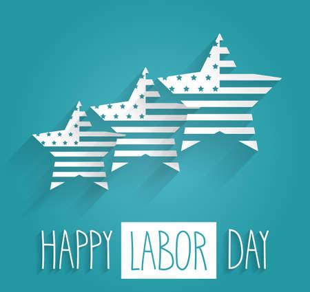 vector raster background: Happy Labor Day. Vector illustration Illustration