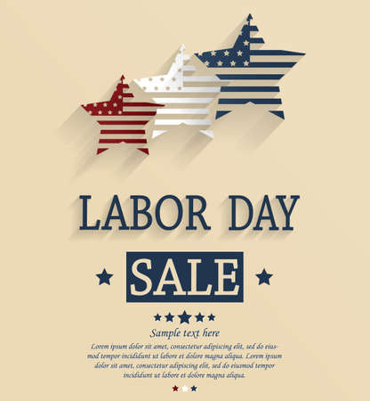 sales people: Labor Day sale Illustration