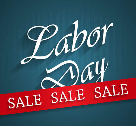 Labor Day sale blue poster