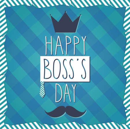 boss: Boss Day hand drawn poster. Cloth background. Vector illustration Illustration