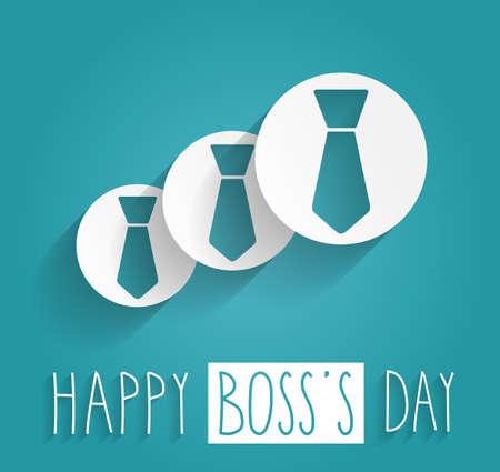 patron: Día de Boss texto escrito a mano. Fondo azul. Ilustración vectorial