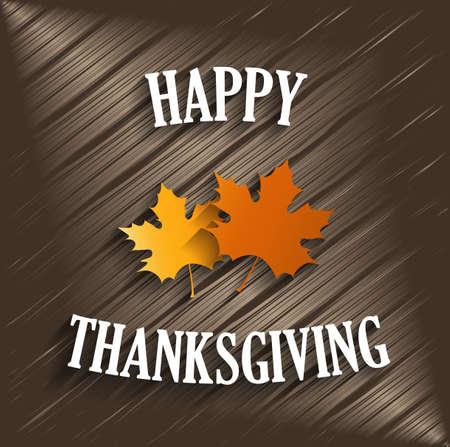 shiny background: Happy Thanksgiving. Wooden shiny background. Vector illustration.