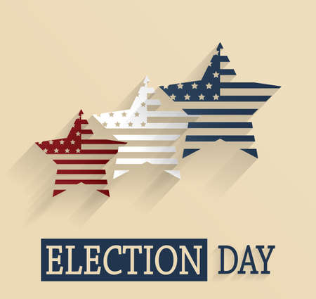 presidential: Election Day poster. Vector illustration.