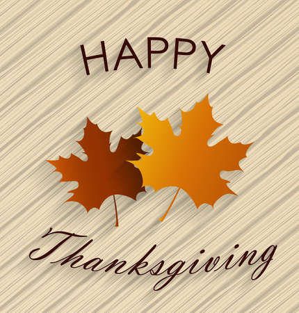 thanksgiving turkey birds: Happy Thanksgiving. Wooden background with maple leaves. Vector illustration.