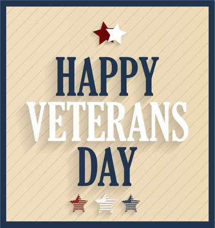 white day: Happy Veterans Day. Vector illustration. Illustration
