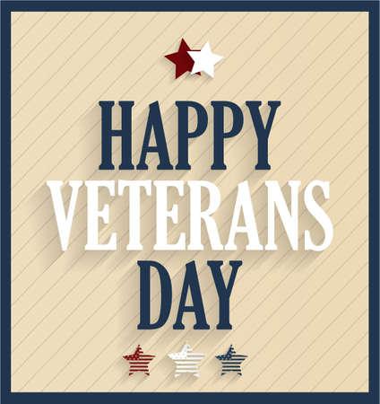 Happy Veterans Day. Vector illustration. Illustration