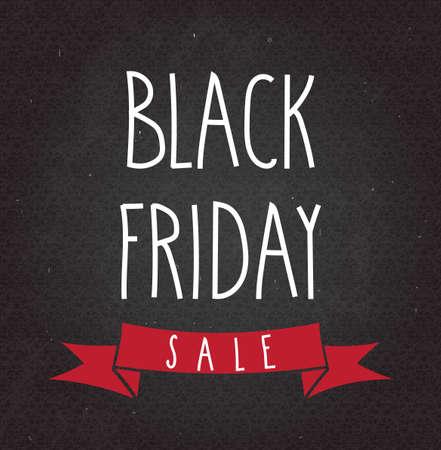 sjabloon: Black Friday Sale handgeschreven tekst op zwart bord. Vector illustratie.