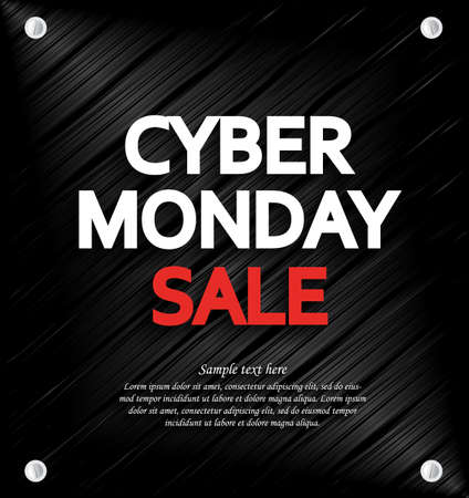black metal: Cyber Monday Sale background with space for your text. Metal background. Vector illustration. Illustration