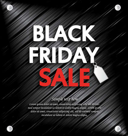 shiny metal: Black Friday Sale background with space for your text. Vector illustration. Illustration