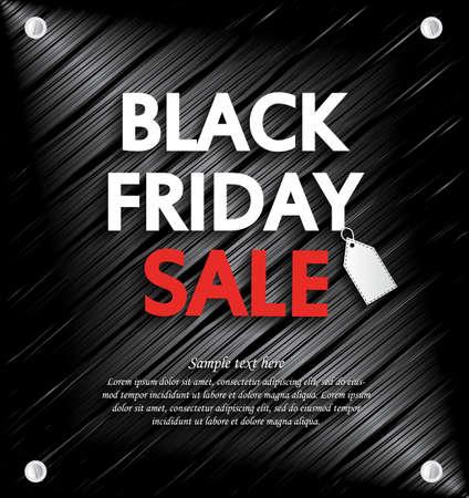 ruban noir: Black Friday Vente fond avec un espace pour votre texte. Vector illustration.