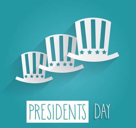 presidents day: Presidents Day. Handwritten text on blue background.